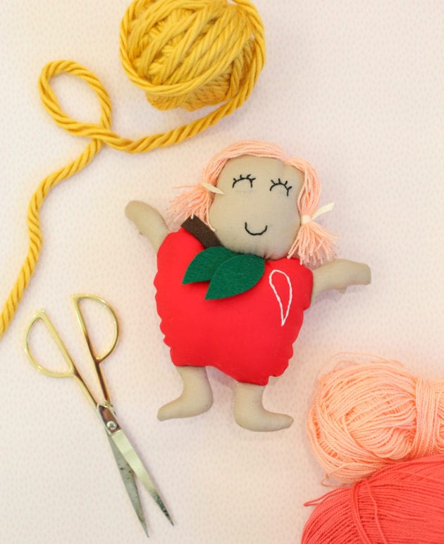 DIY Gift Idea for Kids: Make an Apple Doll thumbnail