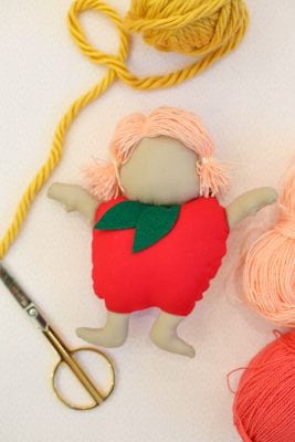 How to make an apple doll