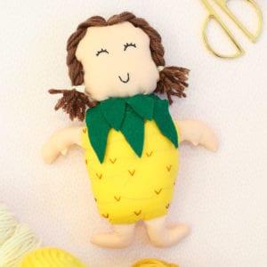 DIY Gift Idea for Kids: Make a Pineapple Doll thumbnail