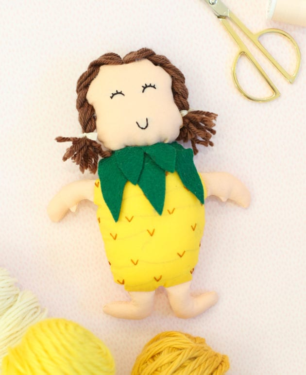 DIY Gift Idea for Kids: Make a Pineapple Doll thumbnail