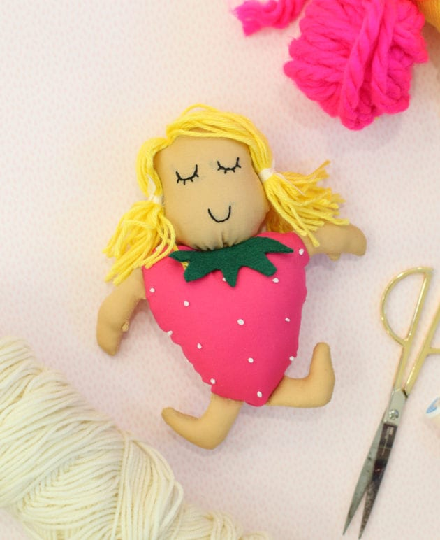 DIY Gift Idea for Kids: Make a Strawberry Doll thumbnail