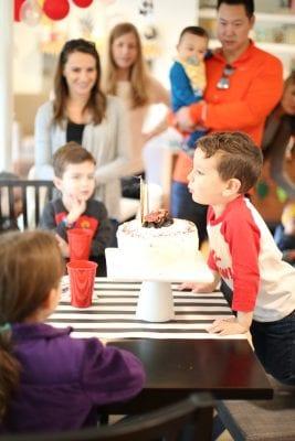 A Pixar Cars third birthday party