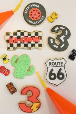 A Pixar Cars third birthday party