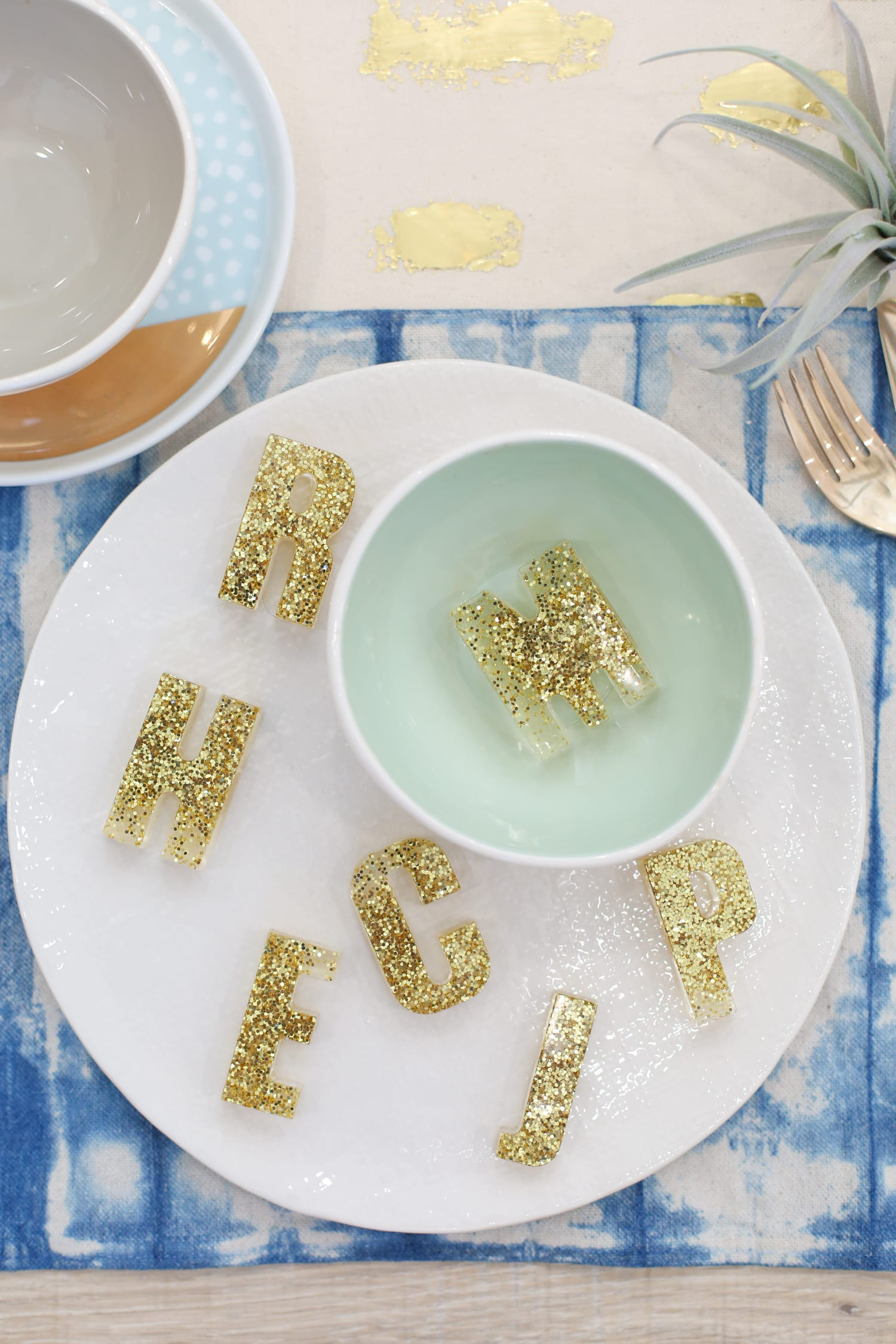 Resin letter placecards for your Thanksgiving table