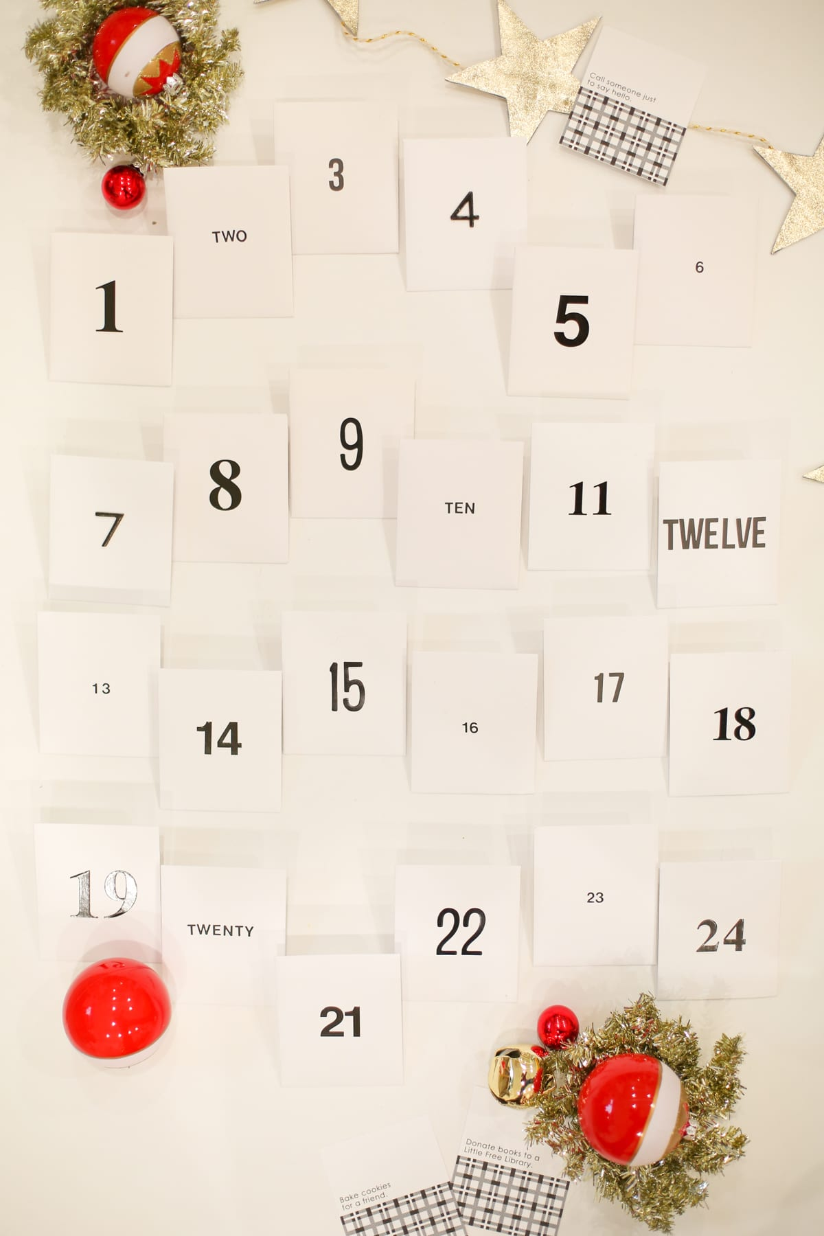 Free printable Acts of Kindness Advent Calendar