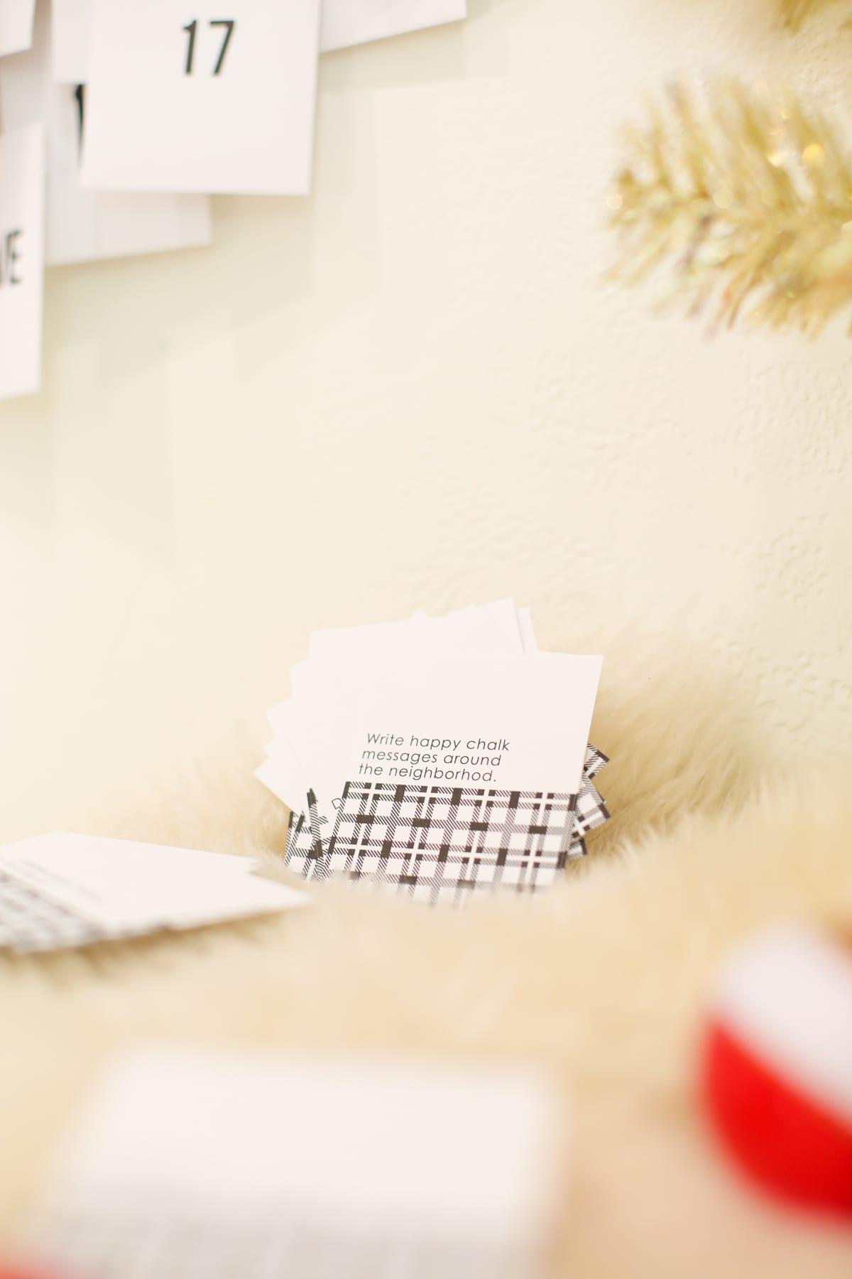 Kostenlose druckbare Acts of Kindness Adventskalender