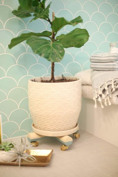 How to make a rolling plant stand