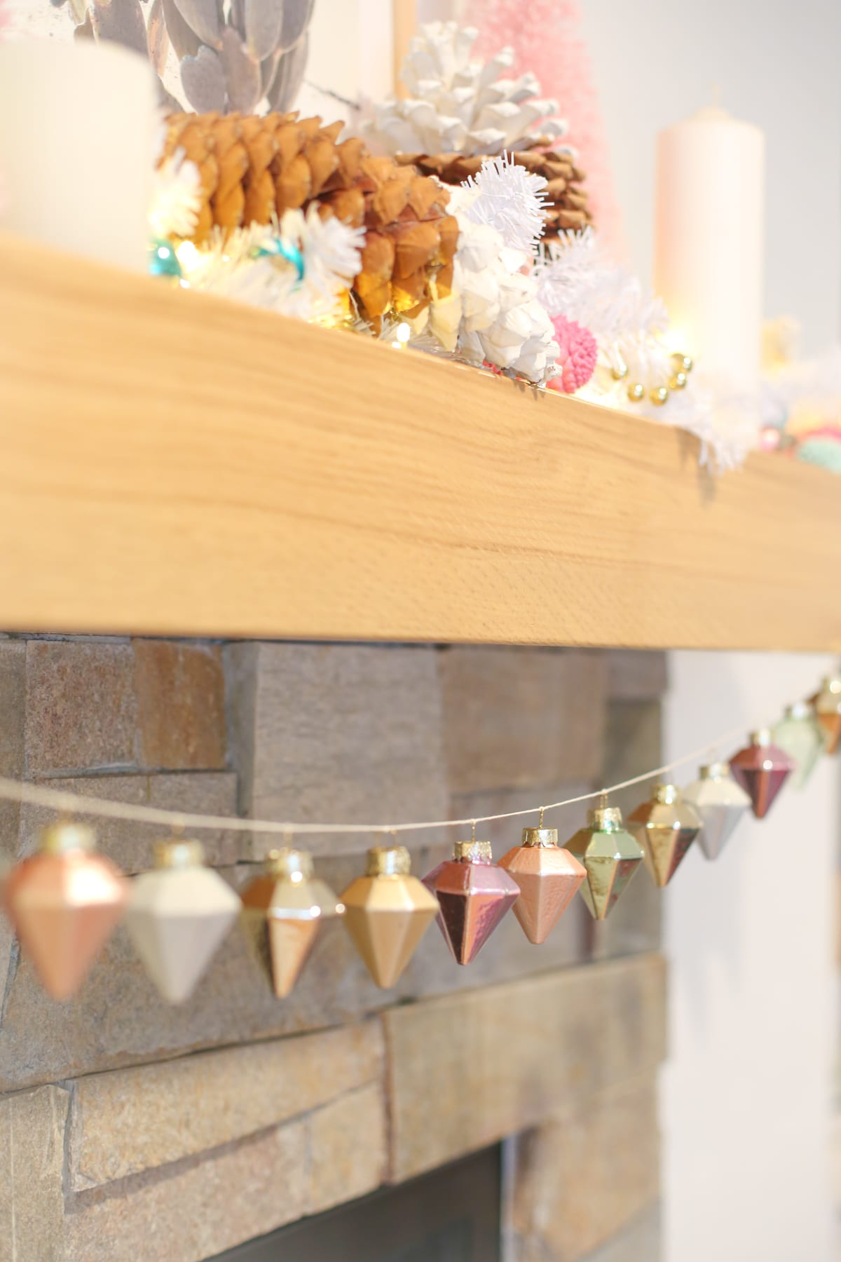 Quick And Easy Diy Ornament Garland For Your Mantel
