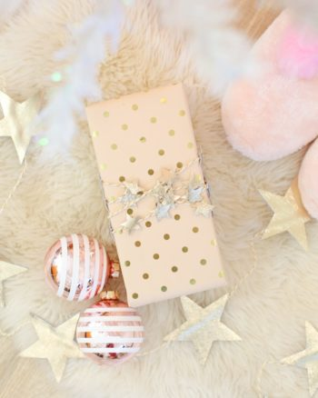 pink and gold gift wrap