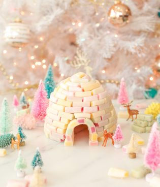 DIY Candy Igloo Holiday Decoration