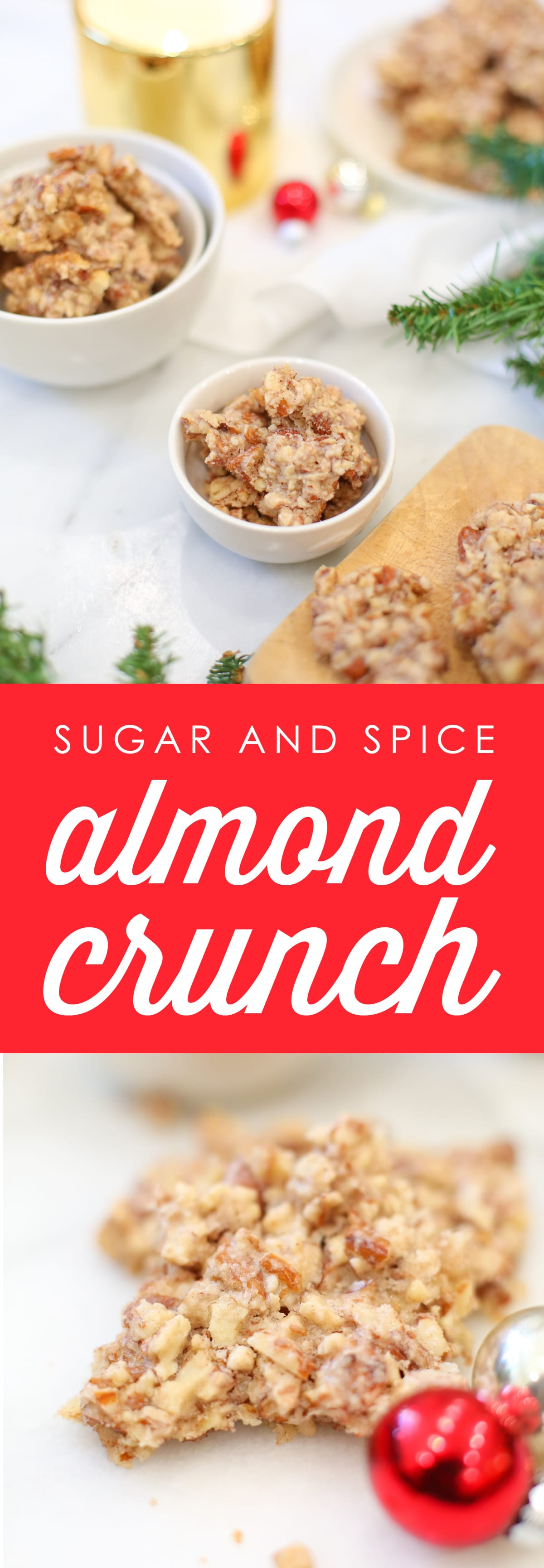 Sugar and spice almond crunch recipe for the holidays