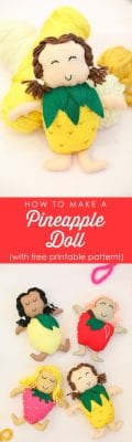 How to make a pineapple doll