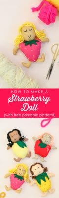 How to make a strawberry doll