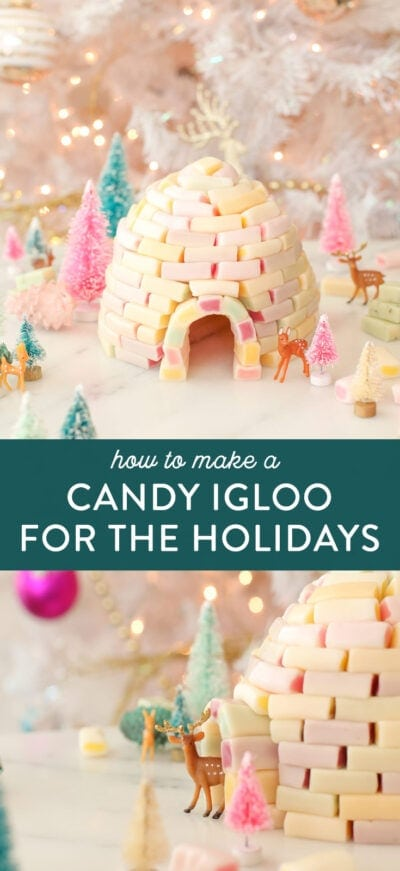 make a candy igloo holiday decoration
