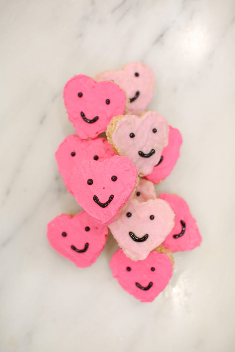 Make Quick and Cute Rice Krispies Heart Valentines