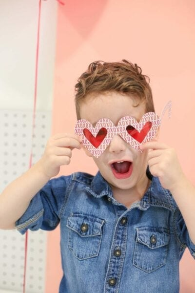 Printable Rose-Colored Glasses for Valentine's Day