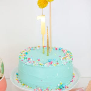 Make a Sprinkle Cake with a Pompom Cake Topper thumbnail