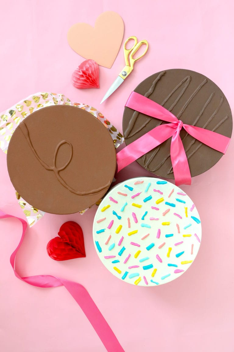 DIY Giant Chocolate Gift Boxes
