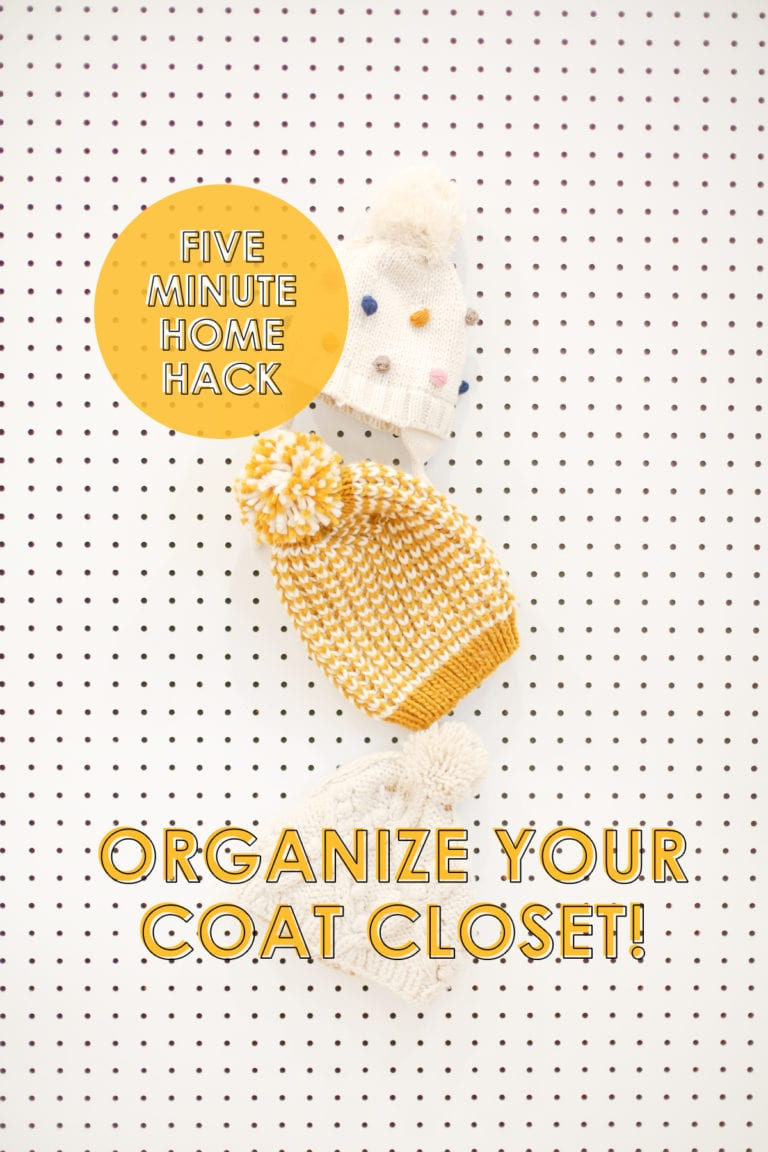 Five Minute Home Hack: Organize Your Coat Closet