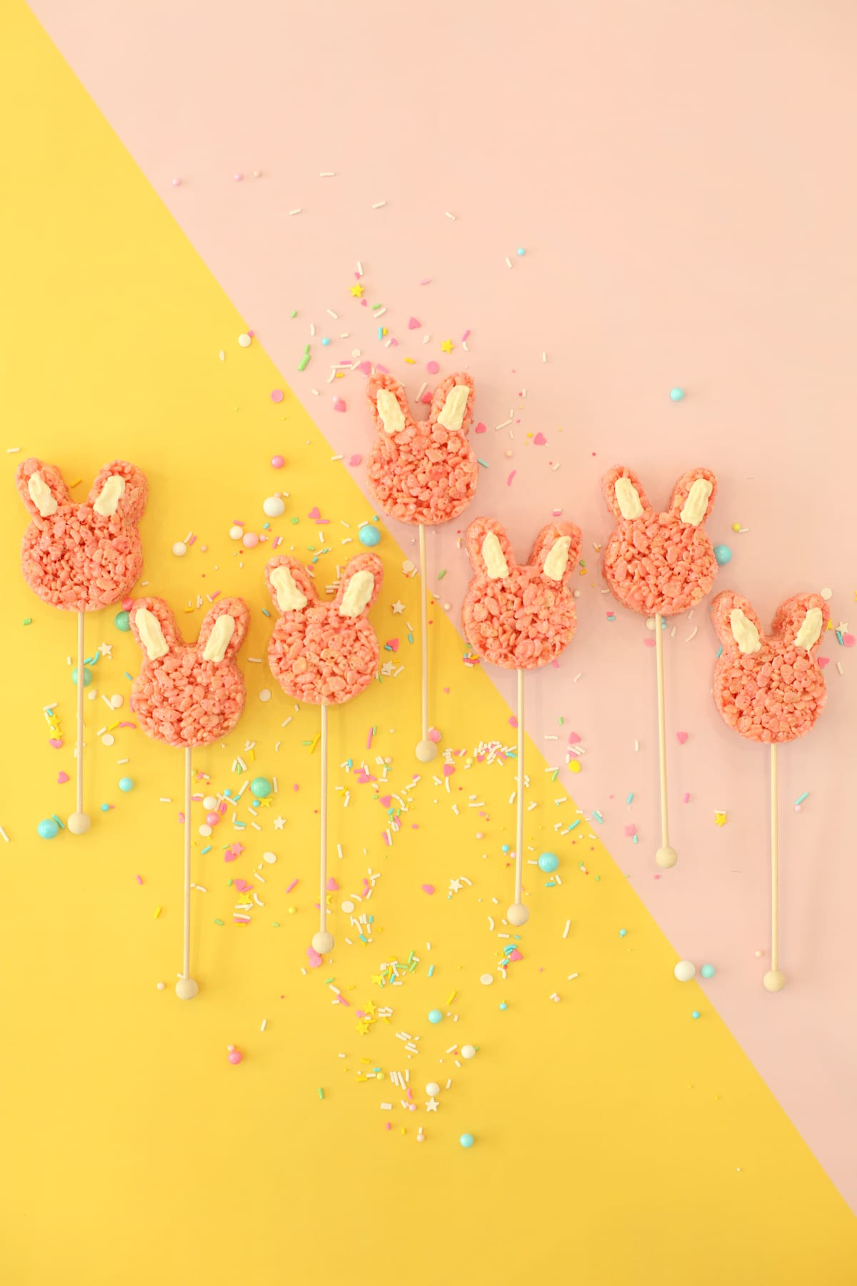 How to make bunny Rice Krispies Treats for Easter