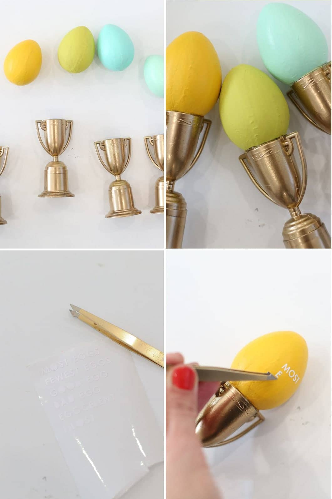 How to make cute Easter egg hunt trophies for Easter