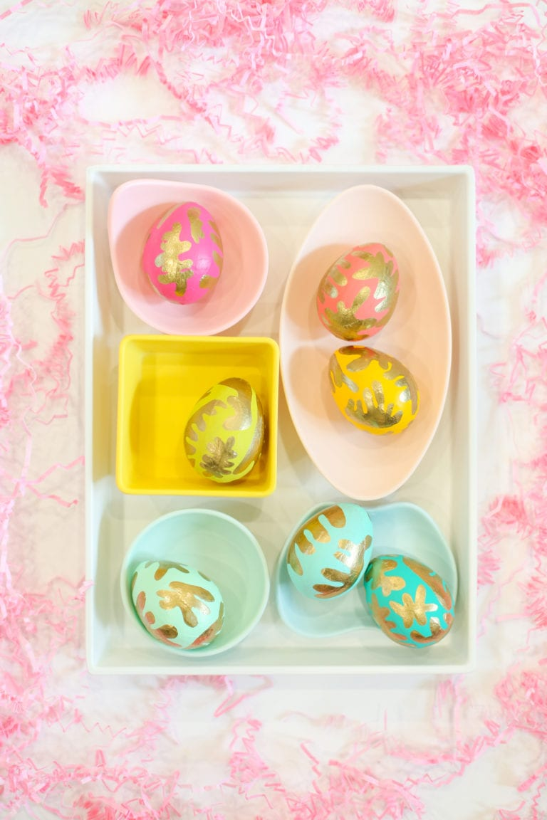 Modern Gold Painted Easter Eggs