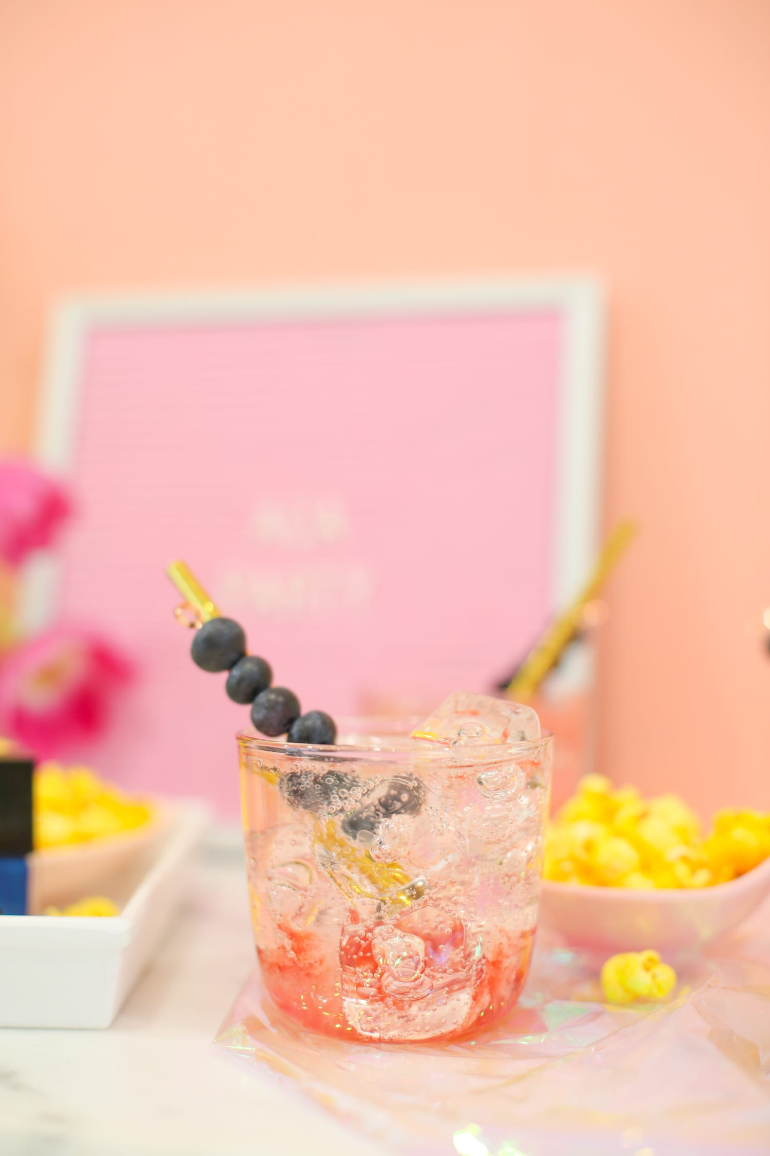 Throw a ladies' movie night with this cocktail recipe