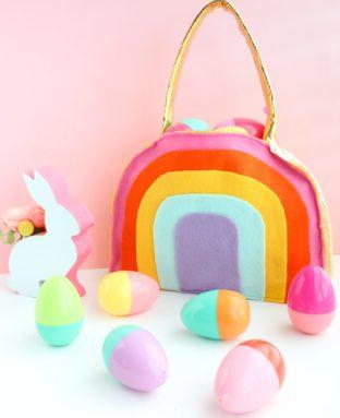 Make a Rainbow Easter Basket