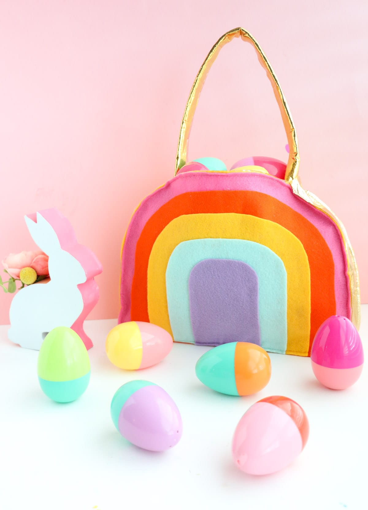 Make a Rainbow Easter Basket