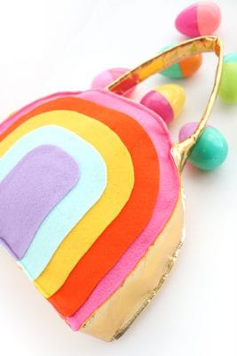 How to Make a Rainbow Easter Basket