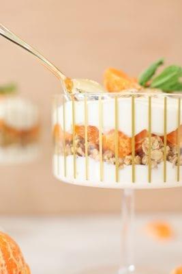 Simple and healthy mandarin granola parfait recipe