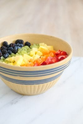 Make a Simple Rainbow Fruit Salad in Ten Minutes