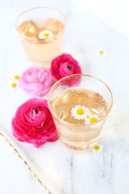 Rose cordial spring cocktail