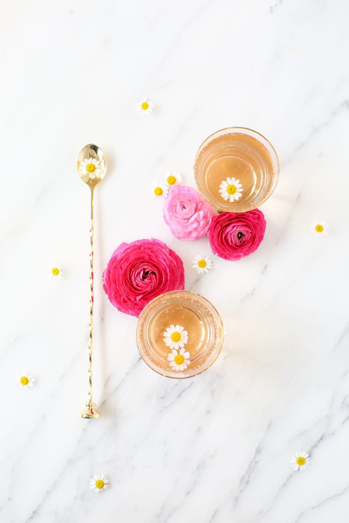 Rose cordial spring cocktail
