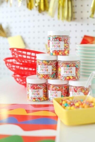 party favor idea: custom sprinkle mix