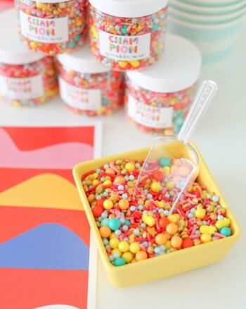 party favor idea: custom sprinkle mix