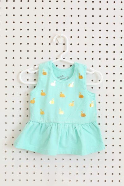 How to make a patterned peplum baby shirt