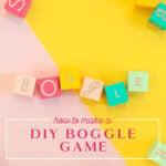 make a diy boggle game