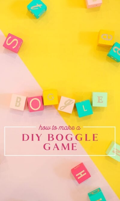 make a diy boggle game