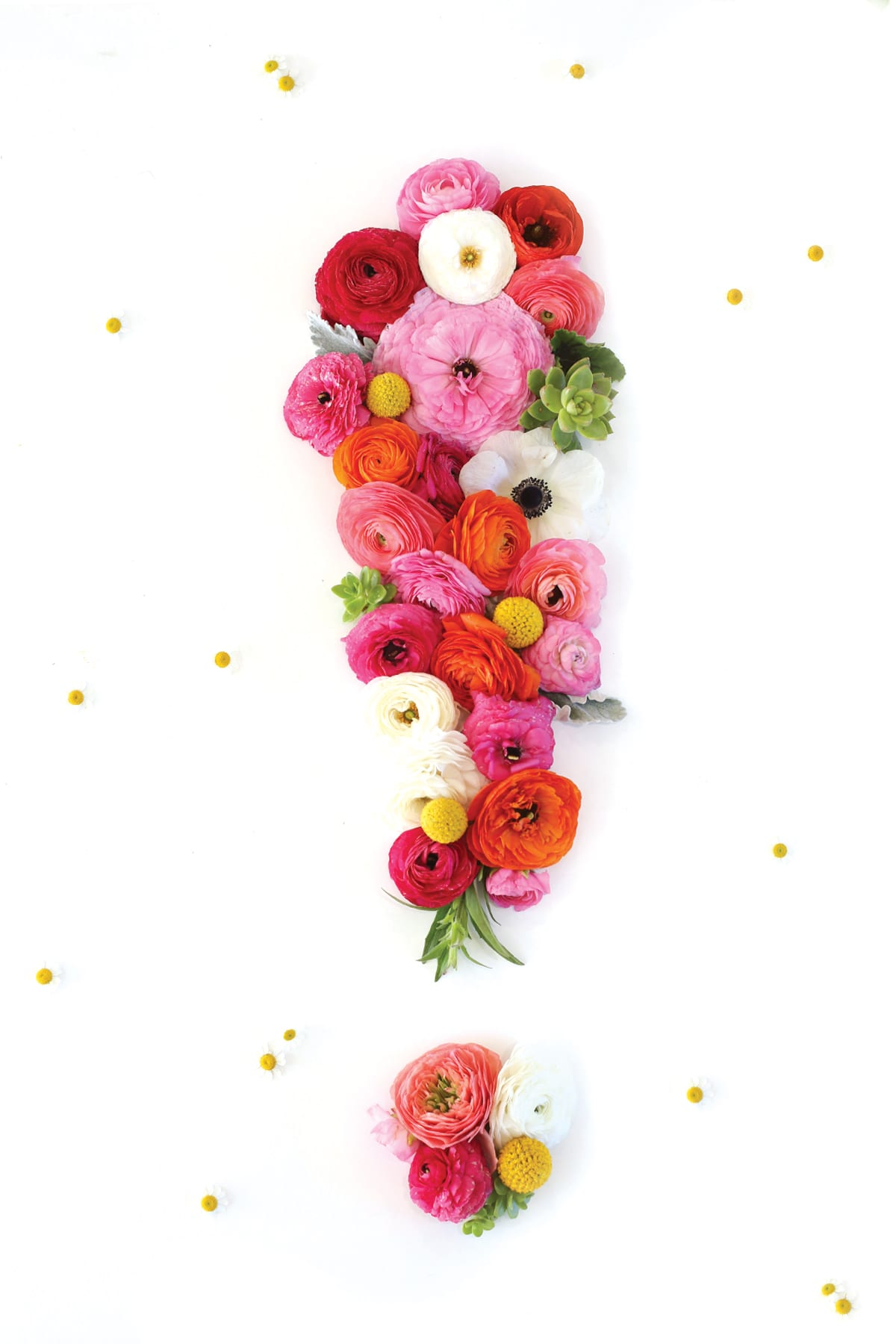 Floral exclamation point