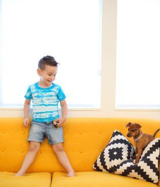 Shibori-Style Tie Dye Kids' Shirts thumbnail