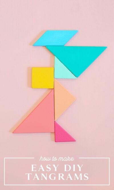 make easy diy tangrams