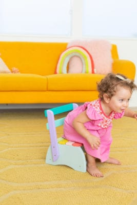 how to make a kids' step stool chair