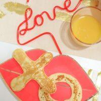 XO Pancakes for Valentine's Day Breakfast