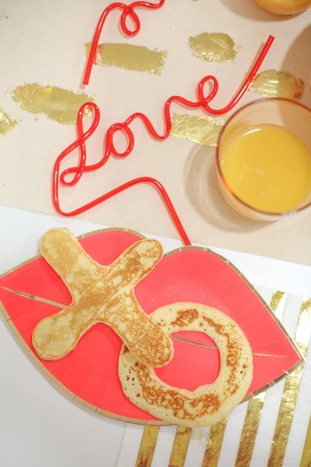 Have a Valentine's Day Breakfast Party with XO Pancakes