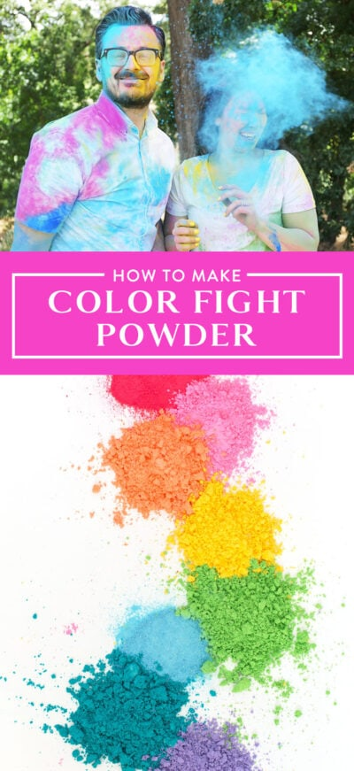 how to make color fight powder