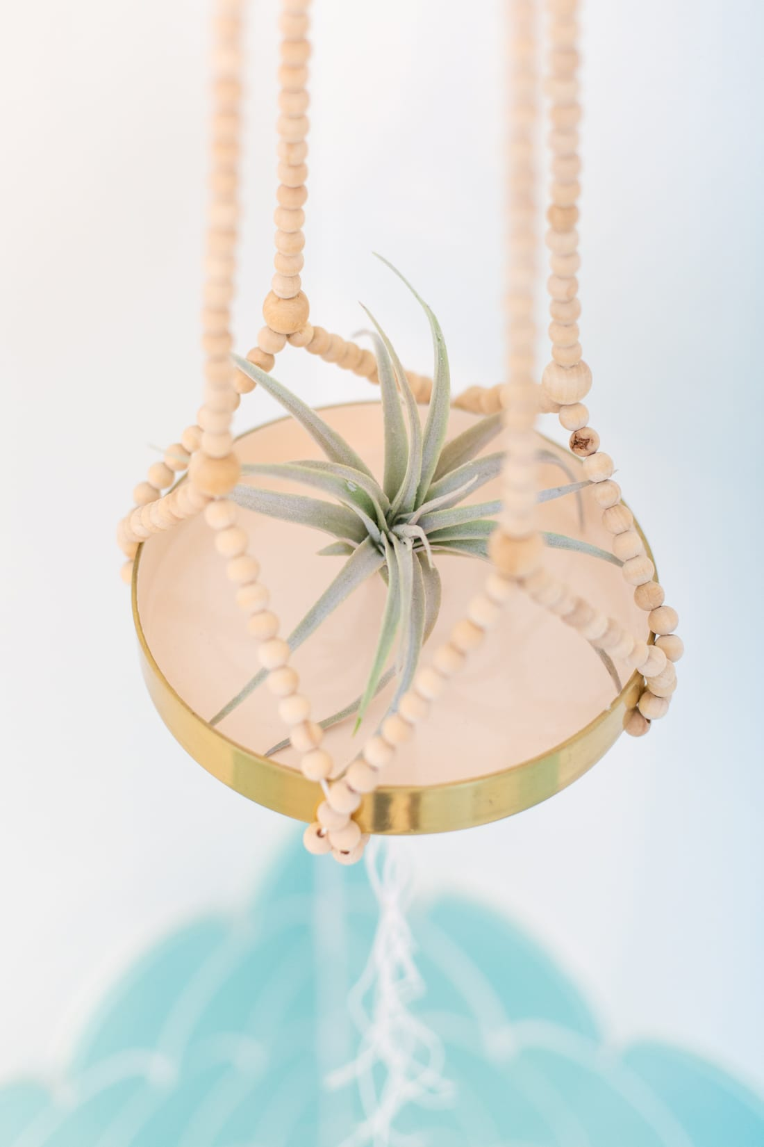 how to make a beaded plant hanger