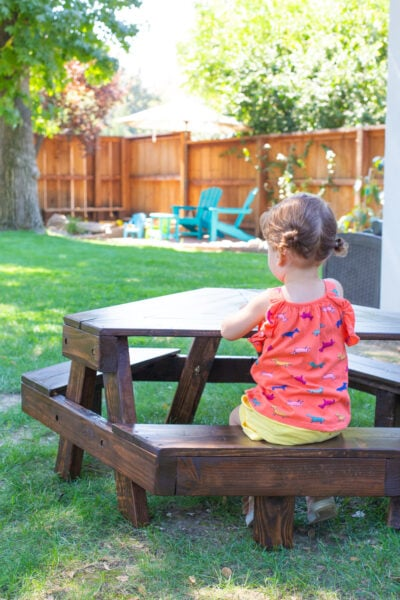 How to Make a Modern Kids' Picnic Table