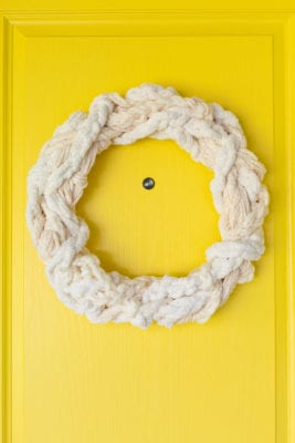 Make a textured yarn wreath for fall