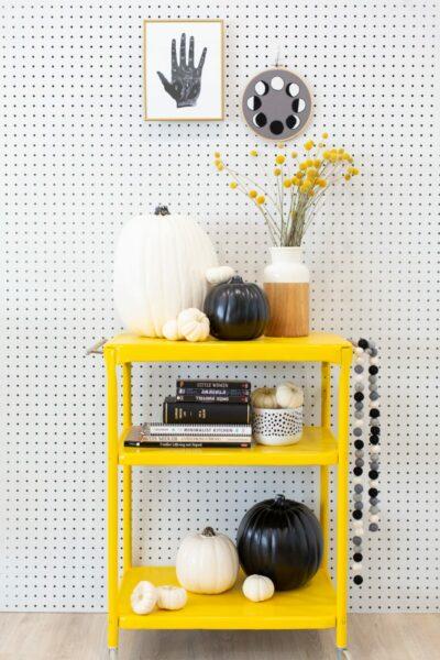 Modern Black and White Halloween Decor